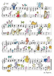 2/22 猫と音楽のコラボ クリアファイル発売